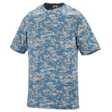 Vienna Lacrosse OUTLAWS Players Digi Camo Wicking Shooting T-Shirt - All Sizes Columbia  Blue