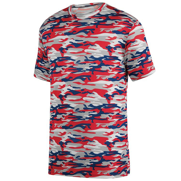 REQUIRED MUCKS Casey Practice Tee - MOD CAMO Red/Navy
