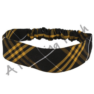 Plaid 41 Fabric Headband w/Elastic in Back