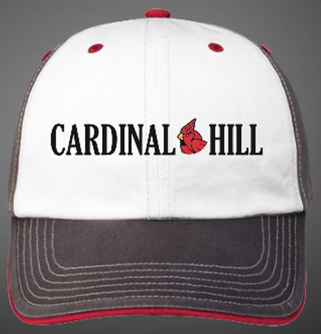 CH Washed Charcoal Alternate Cap - White/Charcoal/Red