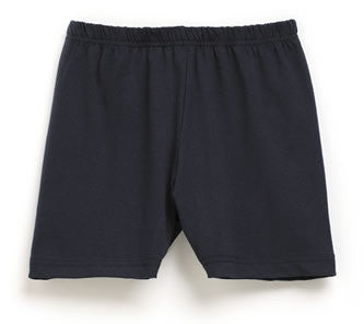Girls Navy Bike Stretch Shorts