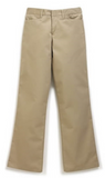 Sizes 17-33 Khaki Straight Leg Slacks