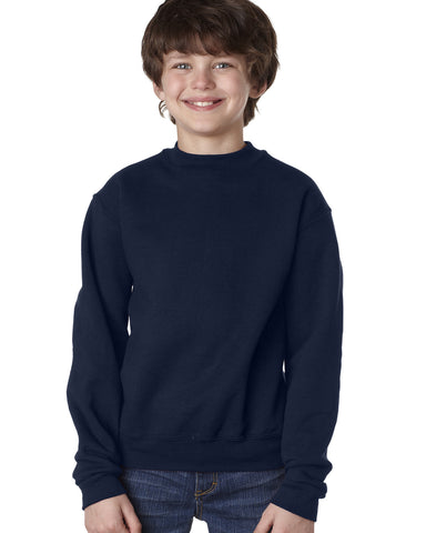 ACE - Jerzees 9.5 oz., Super Sweats® NuBlend® Fleece Crew with Embroidered School Logo