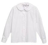 5430BG L/S Girls White Peter Pan Blouse