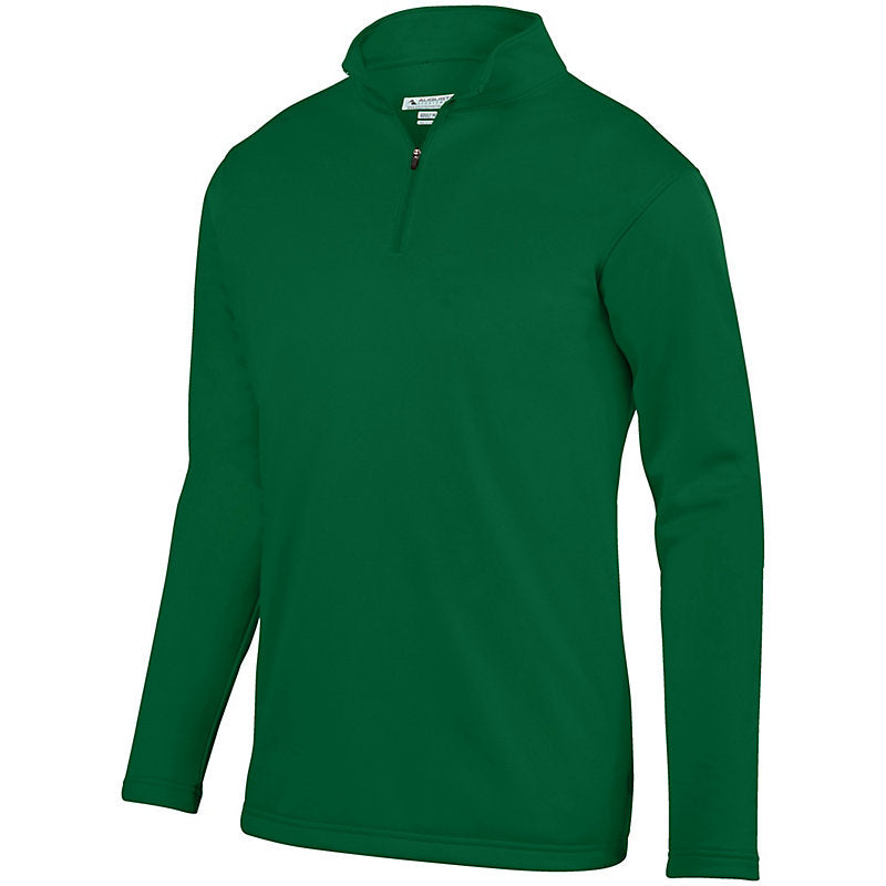 St. Luke Dark Green Performance Wicking Quarter Zip