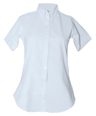 S/S Female Oxford Sizes 7-16 White Button Down Fitted