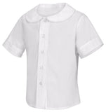 ACE - White Toddler Girls S/S Peter Pan Blouse