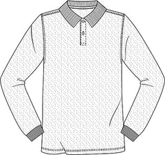 "58352/54 White ""OLGC"" Unisex LS Pique Polo - All Sizes"