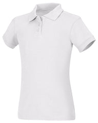 58582/84 Girls Short Sleeve Fitted Interlock Polo