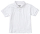 "57912/58912 White ""OLGC"" Youth Unisex Short Sleeve Interlock Polo - Banded Cuffs"