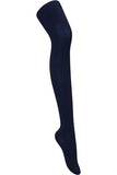 Cable Knit Tights - Navy with Bamboo Rayon