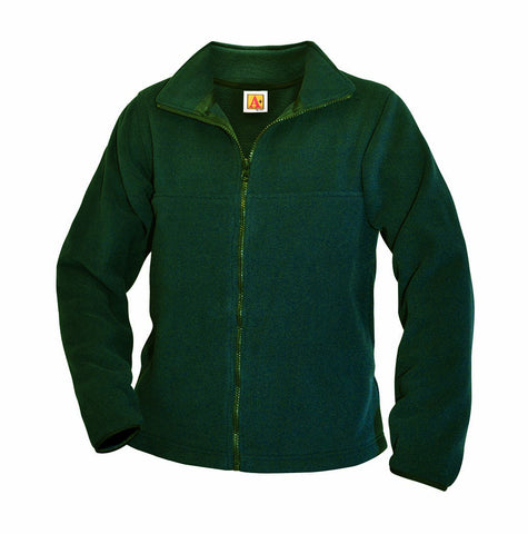 "Dark Green ""LORIEN WOOD"" Monogrammed Full Zip-Front Fleece"