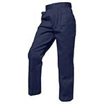 7007 Pleated Twill Pants - Traditional Fit, Mens Husky Elastic Waistband