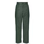 Navy Plain Front Twill Pants - Husky