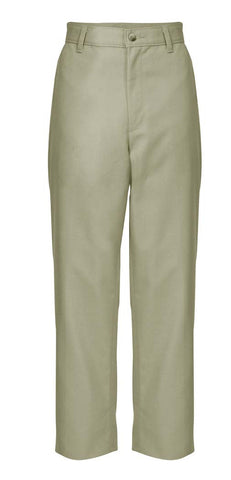Regular Sizes Khaki Plain Front Twill Pants