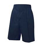 7320HE Pleated Twill Shorts - Traditional Fit, Husky Elastic Waistband