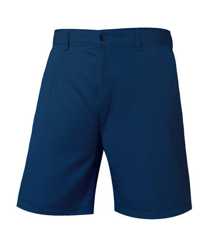 "HALF SIZES - Navy ""OLGC"" Monogrammed Plain Front Shorts - Female"