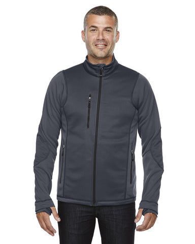 LW Ash City - North End Sport,  Carbon Men's Pulse Textured Bonded Fleece Jacket with Print