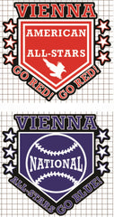 Vienna All-Stars Vinyl Decal - AMERICAN or NATIONAL League