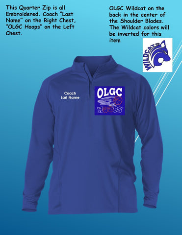 OLGC Custom Adult / Coaches Game Day Quarter Zip Long Sleeve