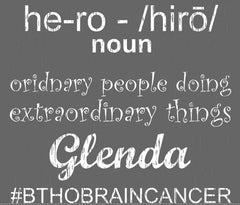 "Men's ""hero-Glenda #BTHOBRAINCANCER"" Ultra Light T-Shirt, Charcoal"