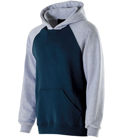 OPTIONAL MUCKS Navy/ Ath;etic Heather Banner Hoodie - Youth/ Adult Sizes