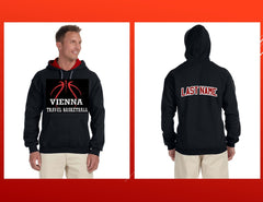 Vienna Travel Basketball Custom Adult Gildan Heavy Blend™ 8 oz., 50/50 Contrast Hood