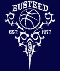 "Ladies ""BUSTEED EST. 1977"" Training Ultra Light T-Shirt, Navy"