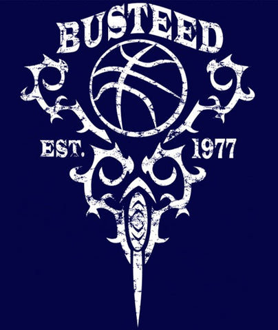 "Youth ""BUSTEED EST. 1977"" Training Ultra Light T-Shirt, Navy"