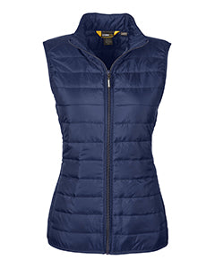 FEMA Embroidered Logo Classic Navy Ladies Prevail Packable Puffer Vest