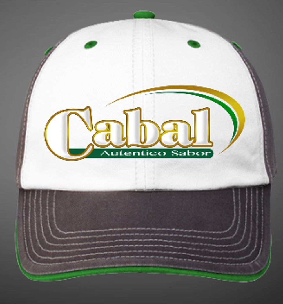 "AG ""Cabal"" Custom Embroidered Washed Charcoal Alternate Cap - White/Charcoal/Kelly Green"