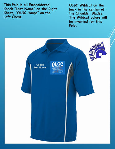 OLGC Custom Adult / Coaches Royal Rival Sport Polo