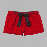 CH Red and Black Swiss Dot Flannel Short