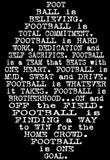 "VIENNA Unisex ""Football is Believing""  Custom Black/ White T-Shirt - Youth/ Adult Sizes"