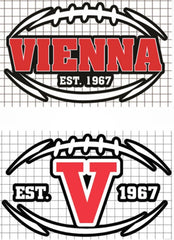 "Vienna Football Vinyl Decal - ""VIENNA EST. 1967"" or ""EST.  V 1967"""