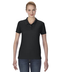 Horizan Gildan Ladies Performance® 5.6 oz. Double Piqué Polo - Black