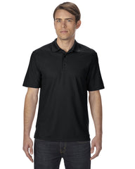Horizan Gildan Adult Performance® 5.6 oz. Double Piqué Polo - Black