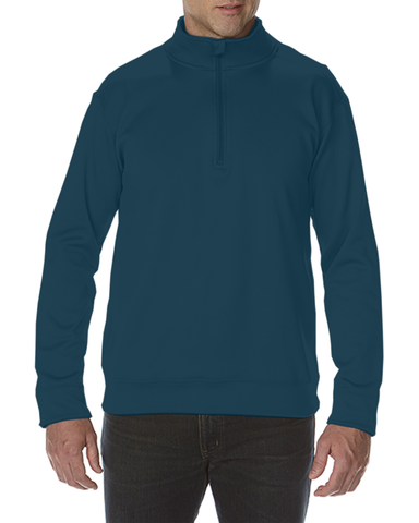 LW SWAG Navy Gildan Performance® 7.0 Adult Tech � Zip Sweatshirt