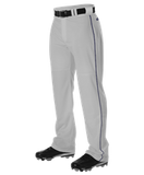 REQUIRED Myers MUCKS WARP KNIT BASEBALL PANT WITH SIDE BRAID - Grey/ Navy
