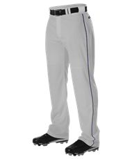 Optional Myers MUCKS WARP KNIT BASEBALL PANT WITH SIDE BRAID - Grey/ Navy