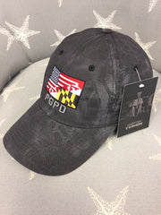 Custom PGPD American / Maryland Flag Kryptek Typhon Cap