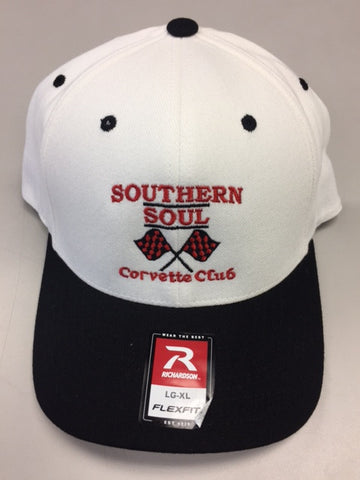 SSCC PRO COTTON Flexfit - White/ Black