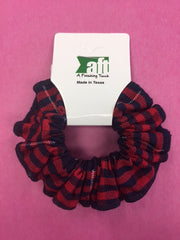 ACE Scrunchie with Trim - Plaid 37