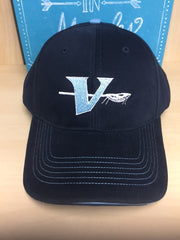 Vienna Lacrosse Chino Sandwich Visor - Navy/ Carolina Blue
