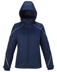 FEMA Embroidered Logo Midnight Navy North End Ladies' Angle 3-in-1 Jacket with Bonded Fleece Liner