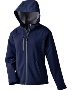 FEMA Embroidered Logo Classic Navy North End Ladies Prospect Two-Layer Fleece Bonded Soft Shell Hooded Jacket