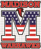 "Madison Warhawks Vinyl Decal - ""Stars & Stripes"" Edition"