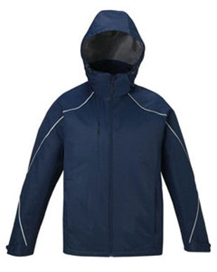 FEMA Embroidered Logo Midnight Navy North End Men's Angle 3-in-1 Jacket with Bonded Fleece Liner