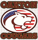 "Oakton Cougars Vinyl Decal - ""Stars & Stripes"" Edition"