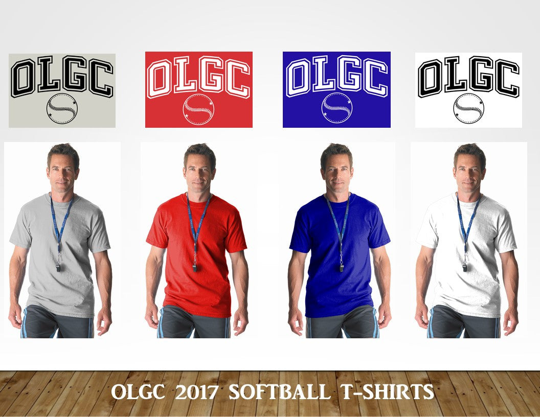 OLGC Softball T-Shirts - Gildan Adult 5.5 Ounce Dryblend® T-Shirt